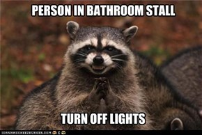 PERSON IN BATHROOM STALL
