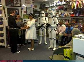 Starwars free comic book day wedding