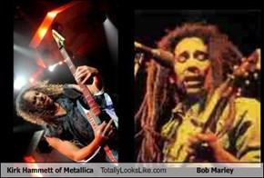 Kirk Hammett of Metallica Totally Looks Like Bob Marley
