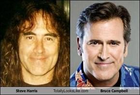 Steve Harris Totally Looks Like Bruce Campbell