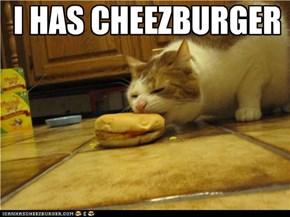 I HAS CHEEZBURGER