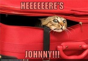 HEEEEEERE'S  JOHNNY!!!