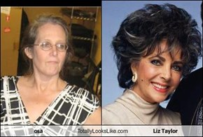 osa Totally Looks Like Liz Taylor
