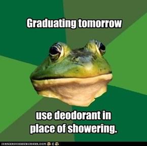 Graduating tomorrow