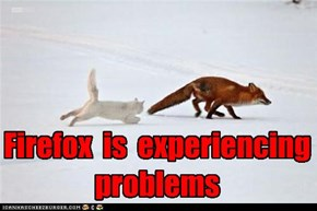 Firefox  is  experiencing  problems