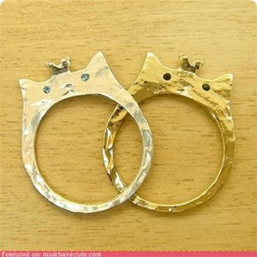 King and Queen Kitty Rings