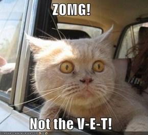 ZOMG!   Not the V-E-T!