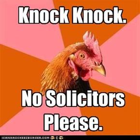 Anti-Joke Chicken: Polite Rejection