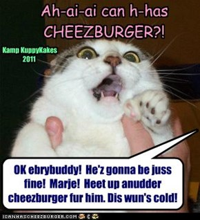 YES! Cheezburgers @ Kamp KuppyKakes