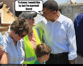 White chick tries to seduce Obama!