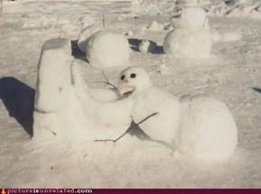 Even Snowmen Get Drunk
