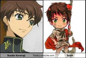 Suzaku Kururugi Totally Looks Like Spain