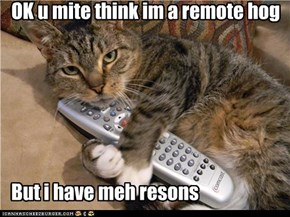 OK u mite think im a remote hog