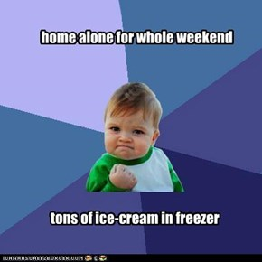 home alone for whole weekend