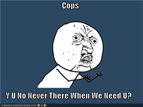 Cops  Y U No Never There When We Need U?