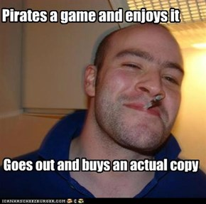 Pirates a game and enjoys it