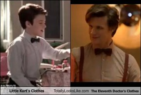 Little Kurt's Clothes Totally Looks Like The Eleventh Doctor's Clothes