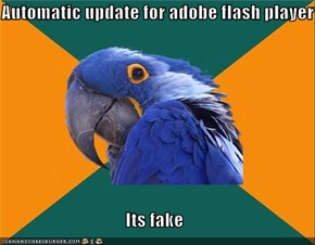 Automatic update for adobe flash player  Its fake