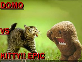 DOMO VS KITTY!! EPIC