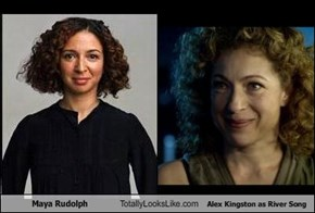 Maya Rudolph Totally Looks Like Alex Kingston as River Song