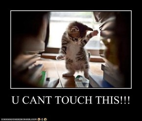 U CANT TOUCH THIS!!!