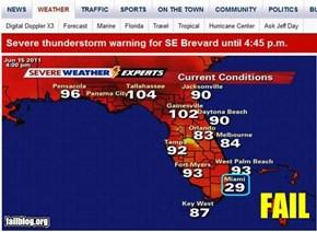 Miami Weather FAIL