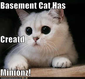 Basement Cat Has  Creatd Minionz!