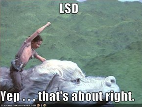 LSD  Yep . . . that's about right.