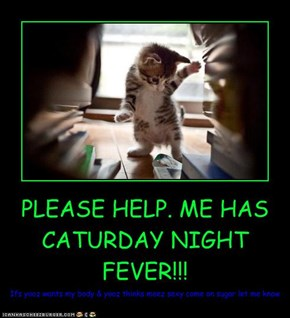 PLEASE HELP. ME HAS CATURDAY NIGHT FEVER!!!