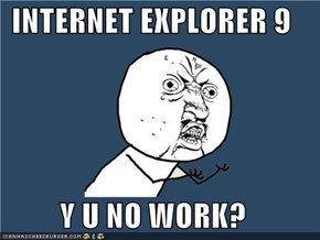 INTERNET EXPLORER 9  Y U NO WORK?