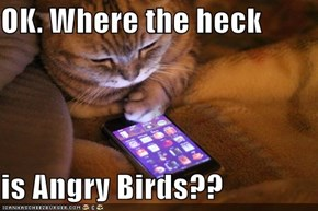 OK. Where the heck  is Angry Birds??