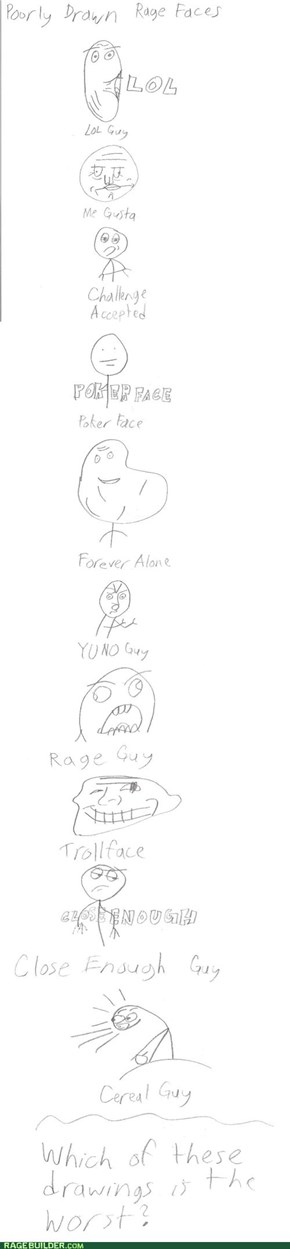 Poorly Drawn Rage Faces