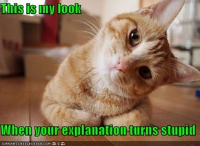 This is my look   When your explanation turns stupid