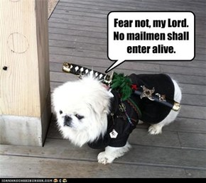 Fear not, my Lord.  No mailmen shall enter alive.