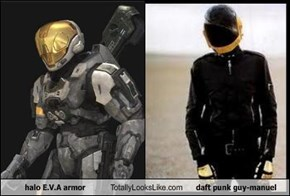 halo E.V.A armor Totally Looks Like daft punk guy-manuel