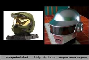 halo spartan helmet Totally Looks Like daft punk thomas bangatler