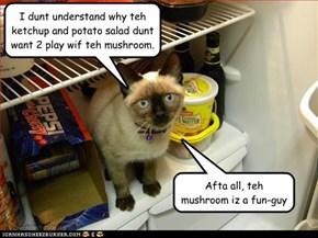 "Datz ""fungi"" doofus!"