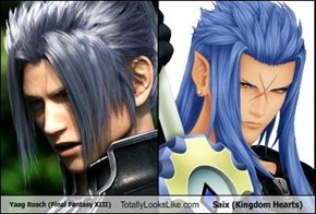 Yaag Rosch (Final Fantasy XIII) Totally Looks Like Saix (Kingdom Hearts)