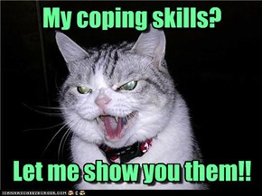 My coping skills?     Let me show you them!!