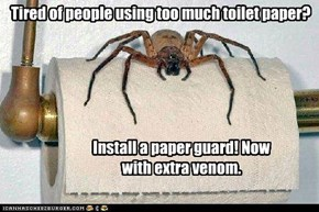Tired of people using too much toilet paper?