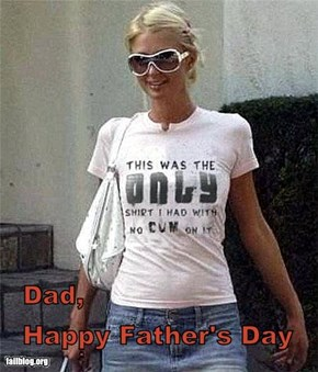 Happy Fathers Day From Paris Hilton