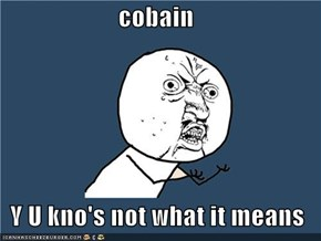 cobain  Y U kno's not what it means