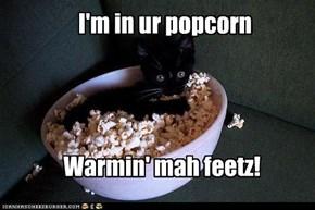I'm in ur popcorn
