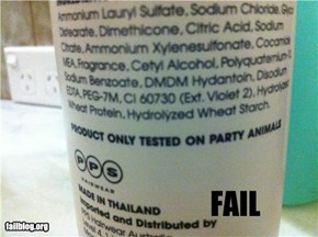 Product Testing FAIL