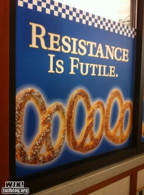 Pretzel Slogan WIN