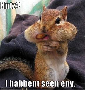 Nutz?  I habbent seen eny.