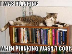 I WAS PLANKING  WHEN PLANKING WASN'T COOL