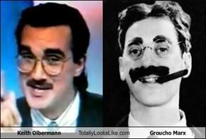 Keith Olbermann Totally Looks Like Groucho Marx