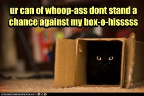 ur can of whoop-ass dont stand a  chance against my box-o-hisssss
