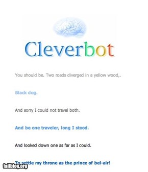 Cleverbot Knows The Real Version of The Road Not Taken